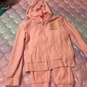 Light pink Juice Couture outfit, size 7 runs small